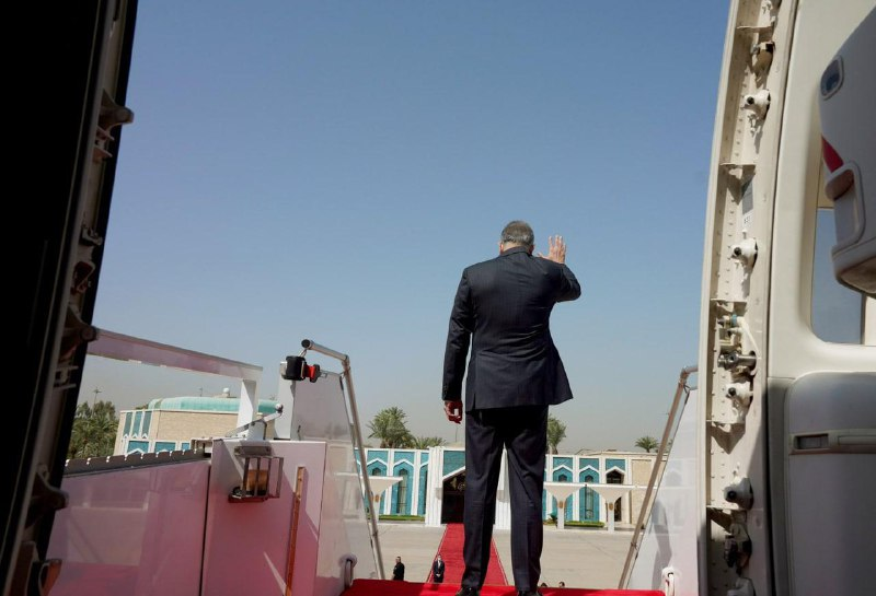 The Prime Minister leaves Washington and confirms that no combat forces will remain in Iraq